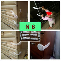 Блокираторы на мебель N6 гибкие тканевые, раздвижных (защита от детей)