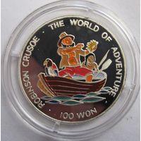 Северная Корея, 100 вон, 1996, серебро, пруф