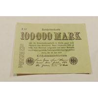 Старт с 1 рубля. 100000 марок 1923 год.