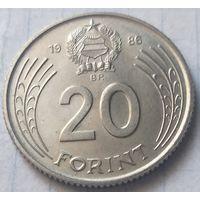 Венгрия 20 форинтов, 1986    ( 3-6-4 )