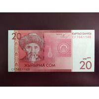 Киргизия 20 сом 2009 UNC