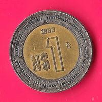 25-22 Мексика, 1 песо 1993 г.