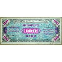 100 марок 1944г. сов. оккупация -безF-