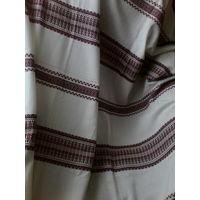 Ткань с вышивкой лен с лавсаном,на штору или скатерть.