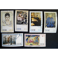 1967 г. Живопись. Галерея Дрезден. Культура. Искусство, полная серия из 6 марок #0020-И1P4 ГДР