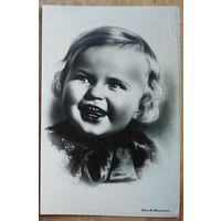 Меснянкин Ю. Девочка. 1930-е. Подписана
