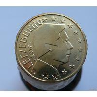 50 евроцентов 2017 Люксембург UNC из ролла