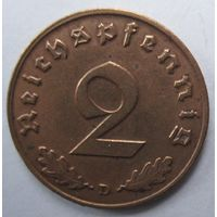 Германия. 2 рейхспфеннига 1938 D. 351