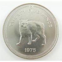 Остров Мэн, 25 пенсов 1975 год.