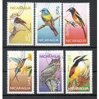Фауна Птицы Никарагуа 1986 год 6 марок