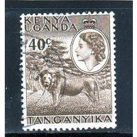 Британские колонии.Кения,Уганда,Танганьика. 40с. Королева Елизавета II. Лев.