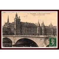 PARIS ~ Сена и Дворец правосудия ~ 1924 год ~