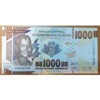 1000 франков 2017 года - Гвинея - UNC