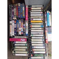 Видеокассеты . 52 шт. Фильмы и мультики.