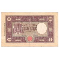 Италия 1000 лир 1944 года. Большой размер. Состояние XF+! Редкая!