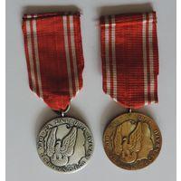 """Медали """"Za zaslugi dla obronnosci kraju"""" двух степеней. 2 шт."""