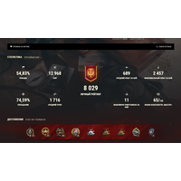 Личный аккаунт World Of Tanks WN8: 2 190, WR: 55% Чиф, 907 в ангаре