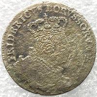 Пруссия 6 грошей 1757 год. Отметка монетного двора С