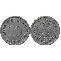 YS: Германия, Рейх, 10 пфеннигов 1906J, KM# 12