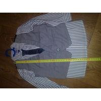 Рубашка, жилет и галстук, рост до 120см