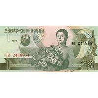 Северная Корея. КНДР  1 вон  1992  год   UNC  (новинка)