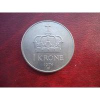 1 крона 1974 год Норвегия