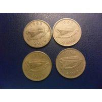 Ирландия 1 шиллинг 1962,1964,1968 г.-цена за монету