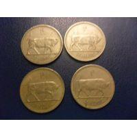 Ирландия 1 шиллинг 1962,1963,1964,1968 г.-цена за монету