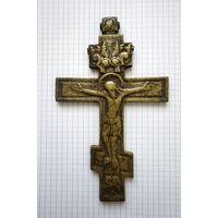 Крест старинный. 17х10 см. Латунь.
