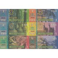 Мачу Пикчу Набор 6 банкнот 2016 UNC