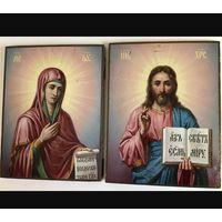 Иконы Господь Вседержитель и Пресвятая Богородица. Венчальная пара.