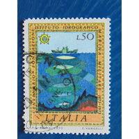 Италия 1973г. Морская фауна.