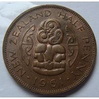 Новая Зеландия пол пенни 1961 г