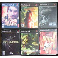 Игры ( 6 шт. ) для  Sony PlayStation 2  б/у набор 2
