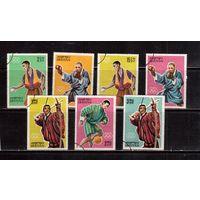 Бутан-1964,(Мих. 31-37)  гаш , (полная серия), ОИ-1964, Спорт