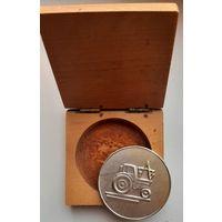 Медаль настольная с рубля.