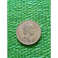 Соломоновы острова  2 цента 2005 г