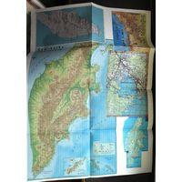 Карта Камчатки