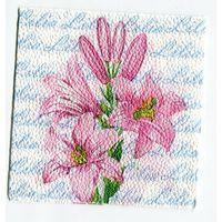 Салфетка для декупажа. Летняя, лилии цветы. 24 х 24 см