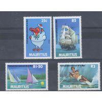 [219] Маврикий 1987.Парусники.