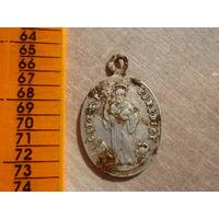 Интересный медальон в белом металле