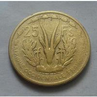 25 франков, Западная Африка 1956 г.