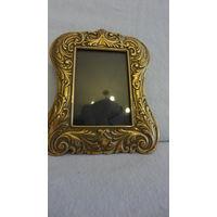 Рамочка для фото со стеклом, Германия, латунь
