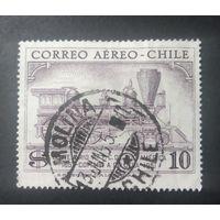 Чили\1236\ 1954 Транспорт Железная дорога Паровозы Поезд. штемпель MOLINA ж\д станция
