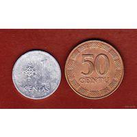Литва 1 цент 1991, 50 цент 1997