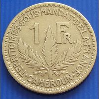 "Камерун. ""Французский"" 1 франк 1924 год  KM#2    Тираж: 3.000.000"