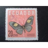 Эквадор 1961 бабочка 20с