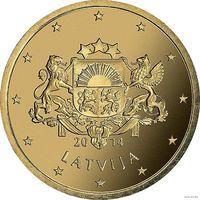 50 евроцентов 2014 Латвия UNC из ролла