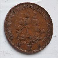ЮАР 1 пенни, 1943 4-13-6