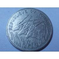 Чад 100 франков 1978 г.